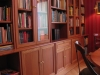 Bibliotheek in blank kersen